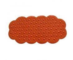 MSV 140196 - Goma Alfombra de baño antecedentes carbonato de Calcio Naranja 92 x 44 x 0,1 cm