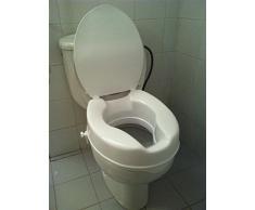 Elevador de inodoro con tapa |más higiénico y resistente| Alzador WC blanco