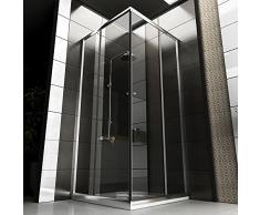 Cabina de ducha/Mampara Incluye cristal los arañazos/90 X 90 X 190/esquina ducha/baño/baño/ducha etc.