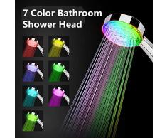 Control automático del sensor de temperatura Cambio de color Sensible Cambio Baño Balneario Ducha Cabezal de luces LED Gadget Cabeza de ducha Cabeza de ducha de mano para baño