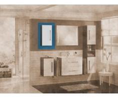 35 x 68 cm Armario Lugano/como color (frontal): Blanco, color (estructura): pino Antracita, orientación: Puerta Bisagra Izquierda