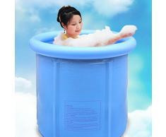 WSS Barril de baño de sauna de bañera inflable de bañera plegable baño espesado en barril de baño adultos . blue . 65*70