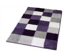Kleine Wolke 5405858360 Caro - Alfombra de baño (105 x 60 cm), color violeta a cuadros