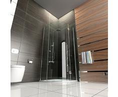 Cuarto circular (cabina de ducha 90 x 90 con al nano-recubrimiento Cristal Redondo Diseño Mampara de ducha para cristal de baño con Alpen Berger
