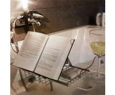 Noble Relaxdays - bandeja con tapa y asa para bañera Relaxdays incluye soporte para libros