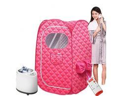 Sauna Hogar Portátil Sauna Portatil Terapéutico Vapor Personal SPA Hogar Rosa (Color : B)