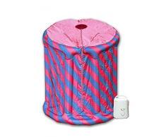 Minisauna Svedana - Sauna de vapor hinchable (850 W y 1,5 L), color rosa y azul