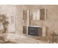 Lavabo mueble para fregadero de Lugano/Como color (front): pino antracita, color (estructura): blanco brillante