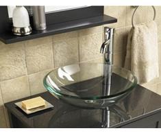 Home Supplies – Kit de lavabo para baño (cristal, lavabo