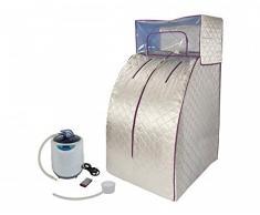 Sauna de vapor portátil deluxe Svedana, Minisauna Comodidad con mando a distancia inalámbrico y generador de vapor electrónico de 2 litros, 1000 W
