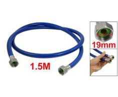 Sourcingmap a12110700ux0610 - Cabeza de acero inoxidable de ducha flexible manguera de agua de la tubería del calentador azul 59 de largo