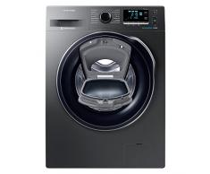 Samsung WW80K6414QX Independiente Carga frontal 8kg 1400RPM A+++ Acero inoxidable - Lavadora (Independiente, Carga frontal, Acero inoxidable, Izquierda, LED, Negro)