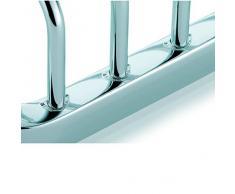 Kela 21918 - Repisa de rejilla para ducha (latón, en esquina, 23 x 10,5 cm), color cromo