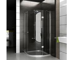 Cabina de ducha/marco para cabina de ducha/ducha 90 x 200 cm aprox/cuadro cuadrante ducha/alpen Berger/modelo Rotondo Clear/cabina de ducha de vidrio