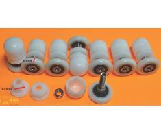 8 x Rodillos Rodamiento Repuesto para puertas de cabina ducha M06А 22mm