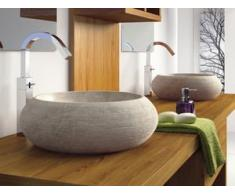 Lavabo de piedra compra barato lavabos de piedra online for Lavabo sobre encimera piedra
