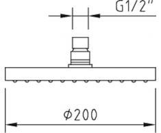 Clever 98518 - Rociador circular para ducha (ABS, 200 mm diámetro)