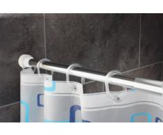 Ridder 553010-350 - Riel para cortina de ducha con muelle (110-245 cm, diámetro 25 mm), color blanco