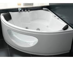 Whirlpool Bañera Tuscany con 10 Boquilla De Masaje + Iluminación Subacuática / Luz + Bañera De Esquina Cascada con vidrio Hot Tub Spa indoor / interior barato