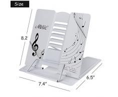 metal talla /única negro Para todo tipo de libros. LY Atril plegable de metal ajustable con dibujos de notas musicales