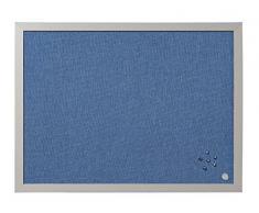 Bi-Office Blue Bells - Tablón de anuncios, 60 x 45 cm, color perla