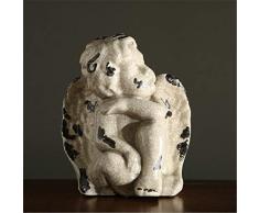 zzzddd Escultura De Escritorio,Angel con ala Baby Boy Figuras Artesanía Cerámica De Estilo Europeo De Escultura Decoración Escritorio Office