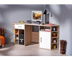Izquierda 19200200 escritorio esquina Oficina Muebles Oficina Mesa de trabajo Mesa oficina Sonoma Color Blanco