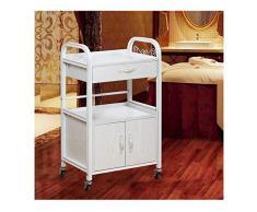Soportes para impresoras Impresora portátil con soporte de cajón, con 4 Ruedas giratorias, impresora Medios de compras con el almacenamiento, carpetas de archivos Cabinet Office Mobile Carro de impres