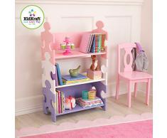 KidKarft - Estantería infantil de madera con diseño puzzle y 3 estantes, muebles para salas de juego y dormitorio de niños, multicolor (pastel) (14415)