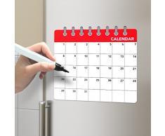 Balvi - Calendar pizarra magnética para puerta de nevera. Anota tu lista de la compra. Incluye un rotulador y un borrador. Medidas 31x35 cm