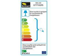 Brilliant a + +, Ina LED - Foco de pared, metal, Blanco/cromo, 18 x 0 x 14.7 cm, GU10 2.5watts 230volts