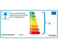 Honsel Leuchten 33391 - Lámpara de pared, níquel mate, cristal color blanco mate