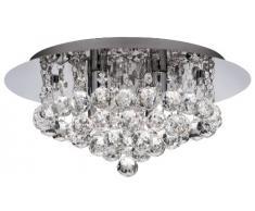 Searchlight 3404-4CC Hanna - Lámpara de techo de 4 bombillas con cristales