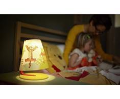 Philips Disney Winnie The Pooh - Lámpara de mesa infantil, LED, luz blanca cálida, bombilla de 3 W, color naranja