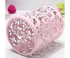 itemer pluma lapicero hueco (rosa maquillaje cepillo Holder Cilindro Oficina en casa escritorio organizador contenedor de almacenamiento (rosa)