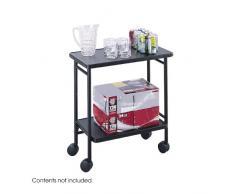 Safco - Carrito de oficina / carro para bebidas, plegable, color negro