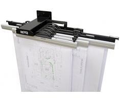 Arnos 1200 - Soporte para 10 rotafolios (A0-A2, 140 x 300 x 100 mm)