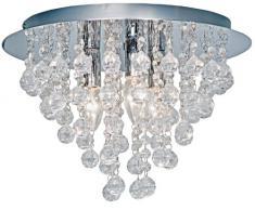 Nino 63040306 London - Lámpara de techo de cromo y cristal (diámetro de 38 cm, 3 bombillas)