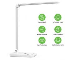 Blanco fr/ío 7 Niveles de brillo Lighting EVER L/ámpara LED 8W L/ámpara de escritorio para Trabajo y lectura 5000K Cuidado a la vista