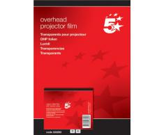 5 Star 333263 - Papel para impresora de tinta (A4, 50 hojas), transparente