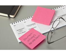 Post-it 2028NX2 - Notas adhesivas (76 x 76 mm, 2 blocs de 450 hojas), colores rosa y verde