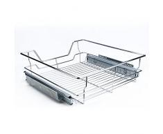 """Organizador de armario enrollable, apilable, para debajo del fregadero, con cesta deslizante, cajón para cocina y baño 500mm/16.4"""" * 17.3"""" * 5.3"""""""