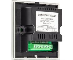 Controlador de luces LED empotradas, placa táctil, color negro