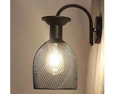 Chrasy Apliques de Pared Luces Iluminación Clásicas Lámparas Industriales pared lámpara de pared del pasillo para E27 Bombilla (Type C)