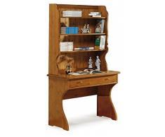 Escritorio, mesa ordenador, estudio, oficina - madera de pino - color miel