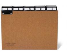 Durable 424511 - Carpeta clasificadora (A - Z, cartón comprimido, división 5/5), color marrón