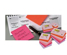 Post-it Dream 654-MTDR - Notas autoadhesivas (76 x 76 mm, 6 blocs, 100 hojas por bloc), varios colores