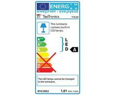 TaoTronics Lámpara Escritorio USB LED Flexo Regulable 12W (5 Niveles de Brillo, 5 Colores de luz, Puerto de USB para Cargar, Luz Nocturna, Temporizador de 1h, función de Memoria) para Leer, Estudiar