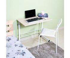mesa plegable Doble Ascensor Escritorio de computadora Se Puede configurar para Mover Escritorio (Color : 2)