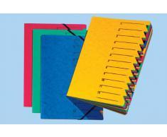 Pagna 24131-02 - Carpeta (DIN A4, cartón, 12 separadores de colores), color azul